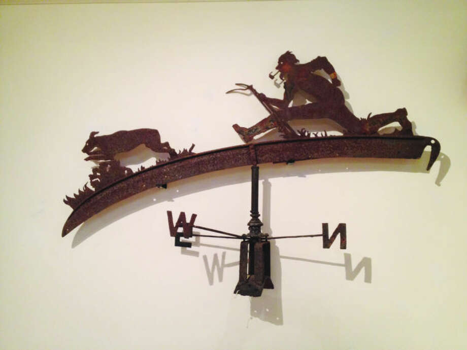 """The Wilton Historical Society will celebrate its 75th anniversary with """"75 Objects/75 Years: Highlights from """"Our Permanent Collection"""" on Thursday, March 21, from 5 - 7 p.m. The exhibition, which is open to the public, will display such works as the above Weathervane, a sheet metal work of art made in 1925."""