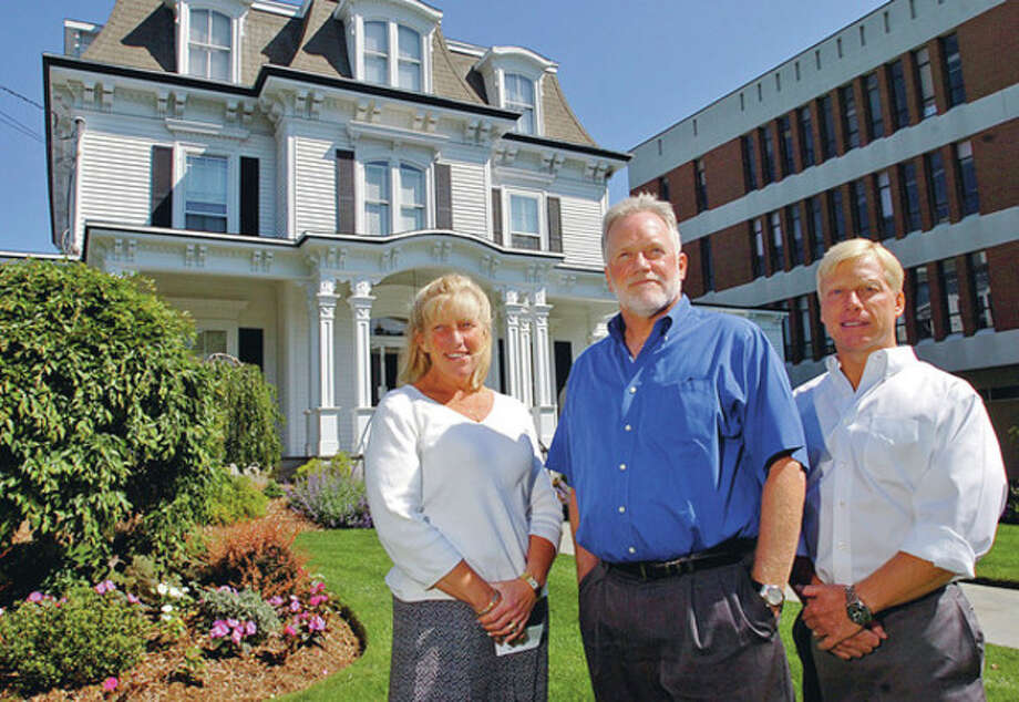 The three Magner siblings, Maribeth Hemingway, Michael Magner and Jay Magner, are thefourth generation to operate Norwalk's Magner Funeral Home.Hour photo / Erik Trautmann / (C)2012, The Hour Newspapers, all rights reserved
