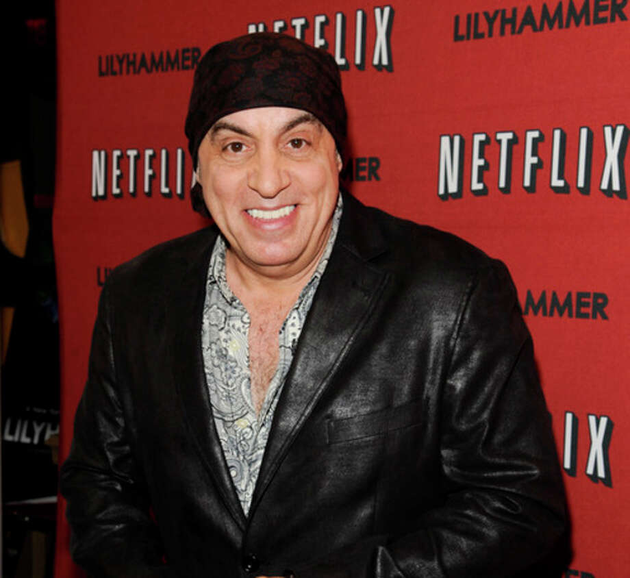 "FILE - In this Feb. 1, 2012 file photo, musician and actor Steven Van Zandt attends the premiere of a Netflix original series ""Lilyhammer"" at the Crosby Street Hotel in New York. Van Zandt has found a way to repay The Rascals for their influence on his music by taking the original four-man band to their biggest and most unlikely stage, on Broadway. The reunited band will play 15 performances at the Richard Rodgers Theatre beginning in April 2013, a show combining live performance, video reenactments, archival concert and news footage, op-art backdrops and psychedelic lighting. (AP Photo/Evan Agostini, File) / AGOEV"