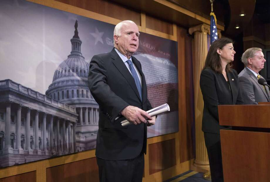 Sen. John McCain was angry over blocked amend- ments. Photo: J. Scott Applewhite / Associated Press / AP