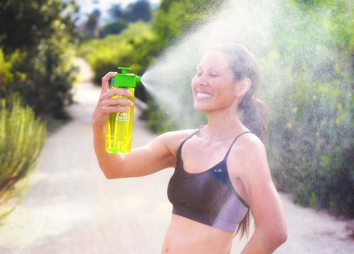 LUNATEX Aquabot water bottle A water bottle that both hydrates and mists you. Makes working out look a lot prettier. On Amazon for $26.50