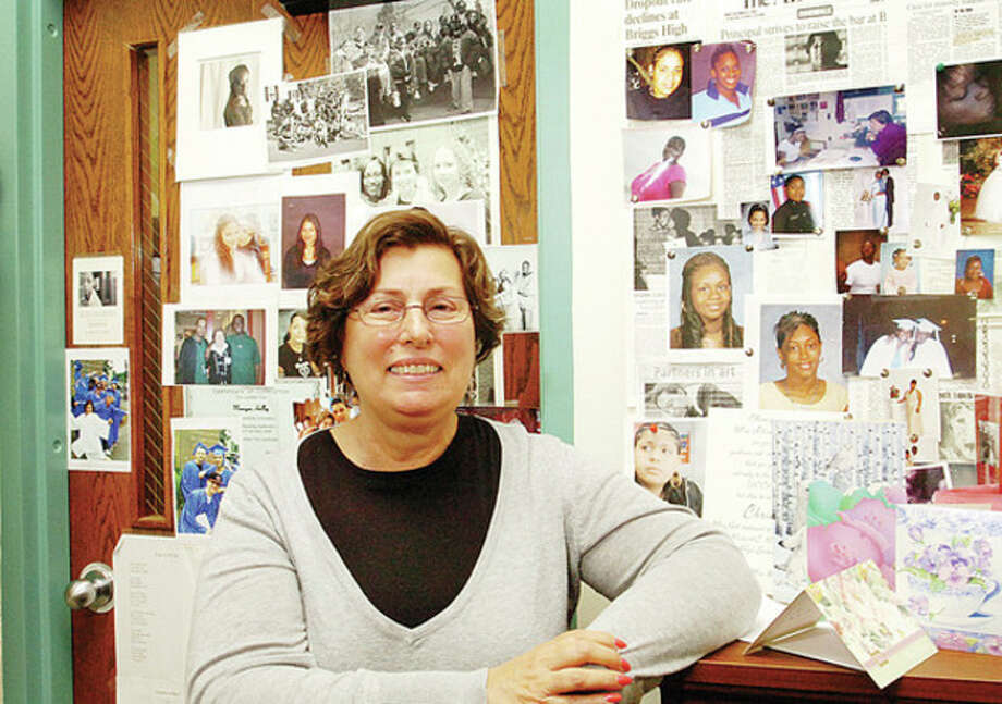 Former Briggs High School principal Elaine Lane. Hour photo / Erik Trautmann / (C)2010 The Hour