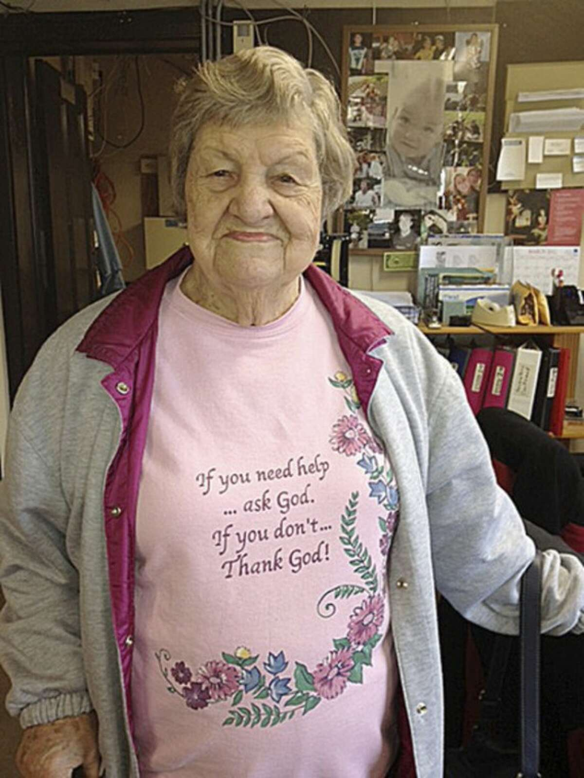 Photo by JENNIFER BARRINGER Mary Long, who is 90 years old, has worked at Norwalk Mattress for 50 years.