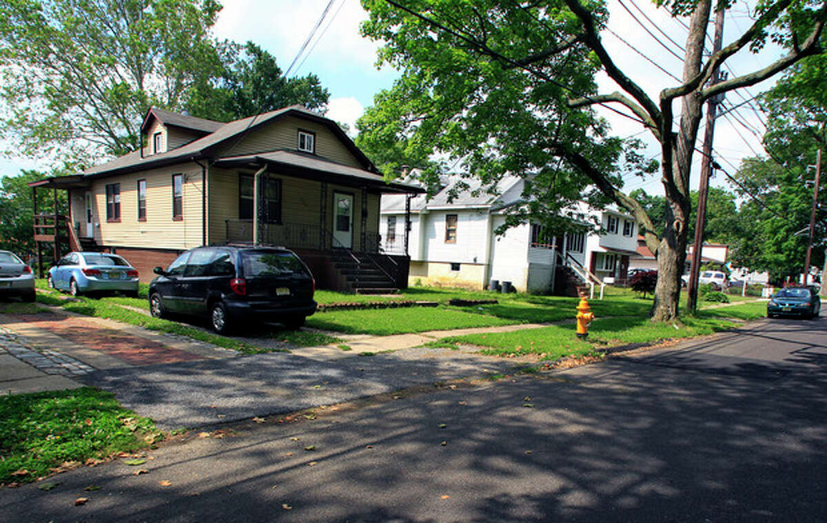 A house, left, at 116 E. Linwood Ave., is seen in Maple Shade, N.J., Thursday, May 24, 2012. A woman who would not identify herself, answered the door at Apt. B, door left, back of house, and said that it is the home of Pedro Hernandez, who is in custody in the disappearance of Etan Patz in 1979. Hernandez has implicated himself in the death of Patz, police said Thursday. (AP Photo/MelEvans)