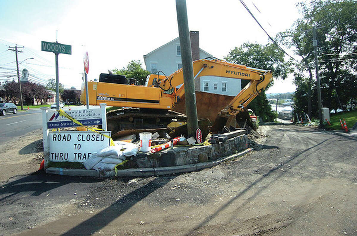 Hour Photo / Alex von Kleydorff Construction site at East Avenue and Moodys Lane.