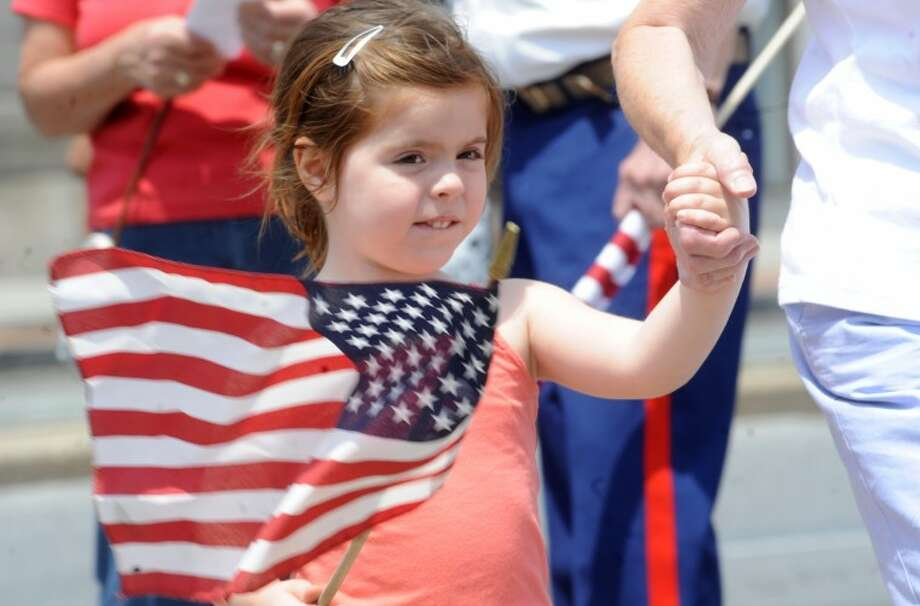 Teresa Moe 3, at the Stamford Memorial Day Parade. hour photo/Matthew Vinci