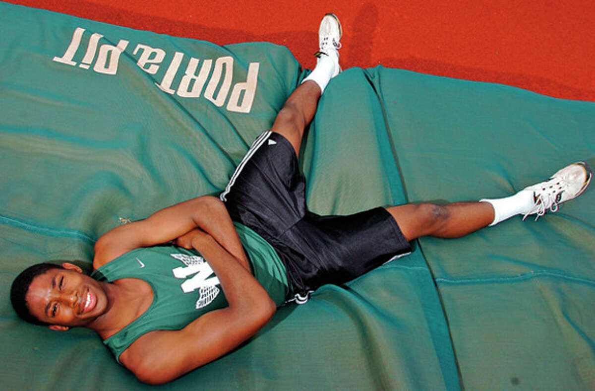 Isiah Bell is a senior high jumper on the NHS track team and will be featured in the next installment of High School Sports Extra. Hour photo / Erik Trautmann