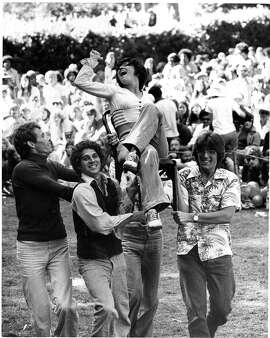 fans dance at  the Don Ellis concert at 37th music festival at  Sigmund Stern Grove.  Photo ran 08/18/1974, P. 2