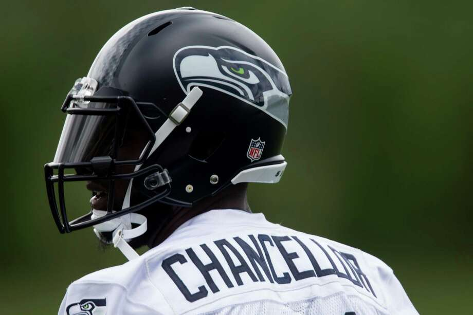 Seahawks safety Kam Chancellor waits between drills during minicamp at Virginia Mason Athletic Center in Renton, Wa., Tuesday, June 14, 2016. Photo: GRANT HINDSLEY, SEATTLEPI.COM / SEATTLEPI.COM