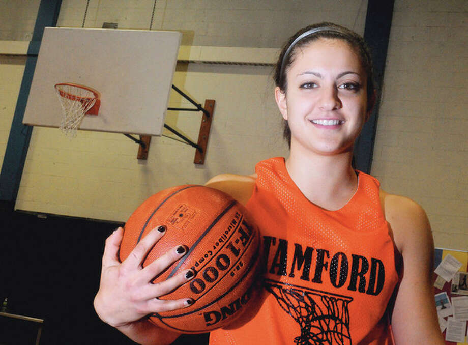 Kelsey Cognetta, Stamford High School girls basketball. photo/Matthew Vinci / (C)2011, The Hour Newspapers, all rights reserved