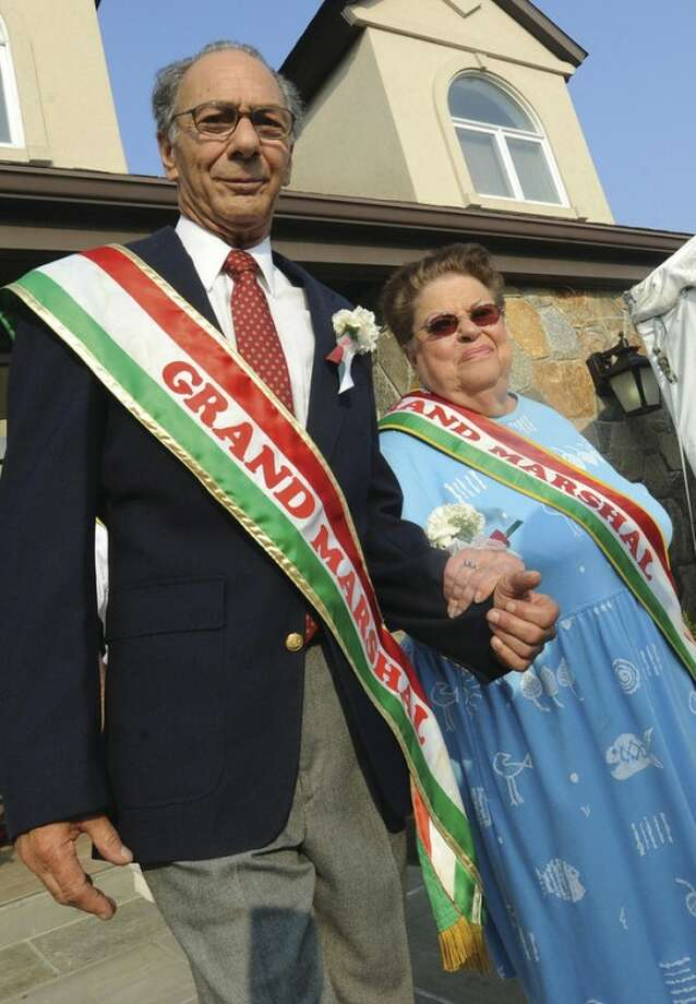 Grand Marshals of the St. Ann's Club feast on Thursday, Nick Allegretta and Florence Agliotta. hour photo/matthew vinci