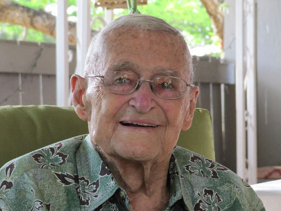 In this photo taken May 31, 2012, retired Rear Adm. Mac Showers, the last surviving member of the intelligence team that deciphered Japanese messages in the lead up to the Battle of Midway, is seen in Pearl Harbor, Hawaii. Showers and Navy officials are observing the 70th anniversary of the battle that changed the course of World War II on Monday, June 4, 2012. (AP Photo/Audrey McAvoy) / AP