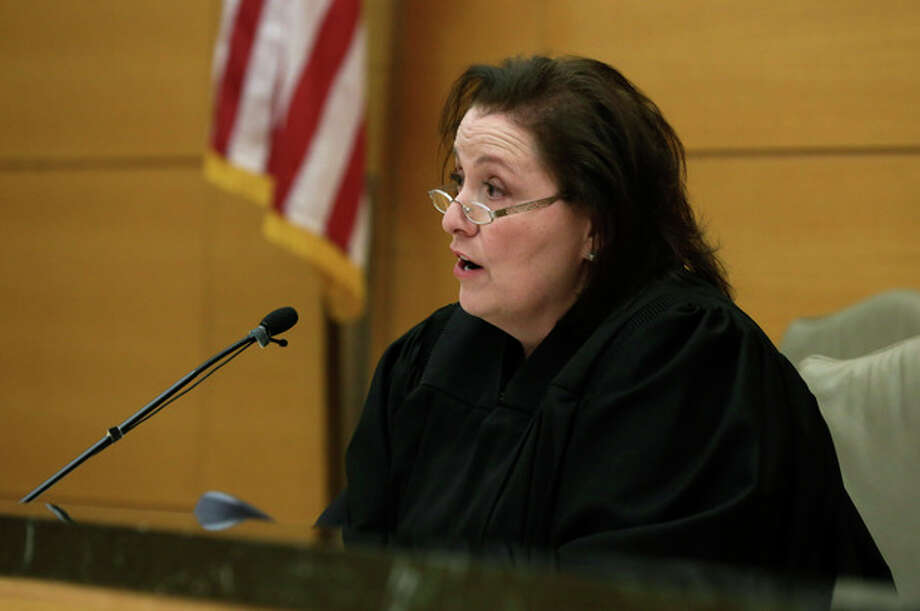 Judge Miriam Cyrulnik presides in the case of David Ranta, in New York state Supreme Court in Brooklyn, New York on Thursday, March 21, 2013. Ranta, 58, who spent more than two decades behind bars was freed on Thursday after a reinvestigation of his case cast serious doubt on evidence used to convict him in the Feb. 8, 1990 shooting of Rabbi Chaskel Werzberger. (AP Photo/Richard Drew, Pool) / POOL AP