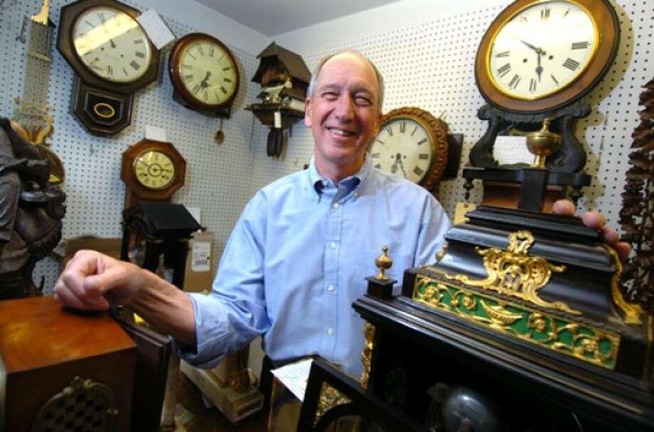 Photo/Alex von Kleydorff. Bucky Taylor owner of The Clockery.