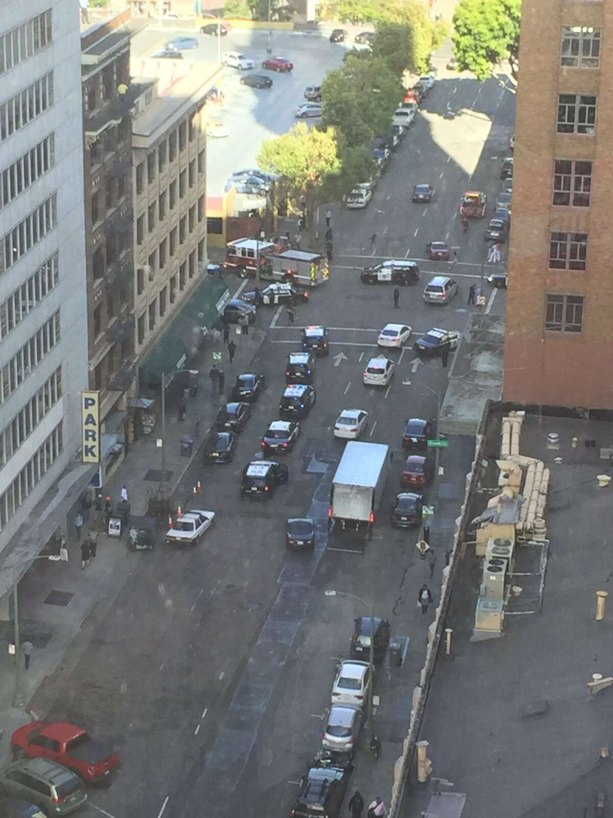 There were reports of multiple shots fired in downtown Oakland on Tuesday, June 14, 2016.