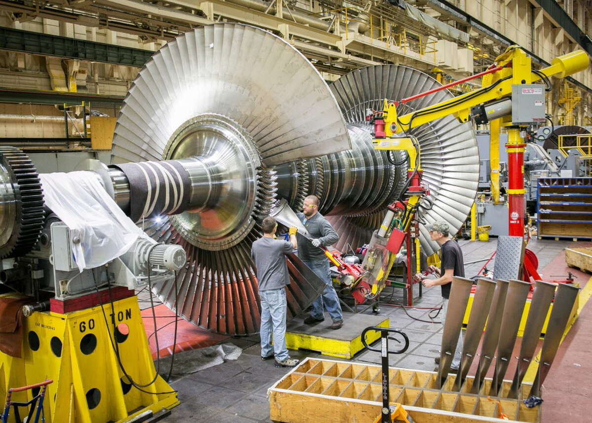 Steam turbines bound for Algeria are manufactured at General Electric in Schenectady, N.Y. (General Electric)