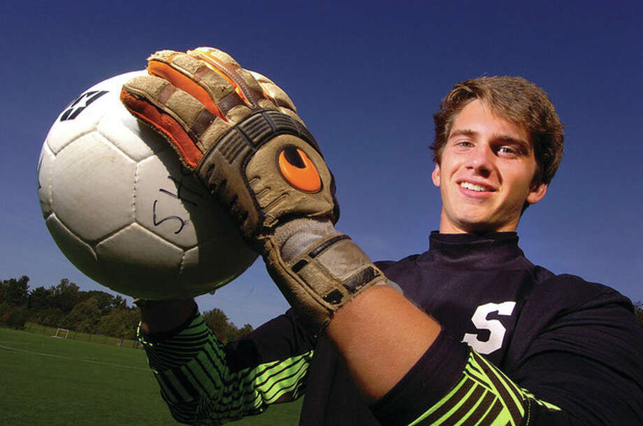 Hour Photo/ Alex von Kleydorff. Staples boys soccer James Hickok. / 2011 The Hour Newspapers/ Alex von Kleydorff