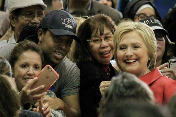 Hillary Clinton, seen here at Texas Southern University earlier this year, says she can win Texas but state Democrats don't believe that will happen.