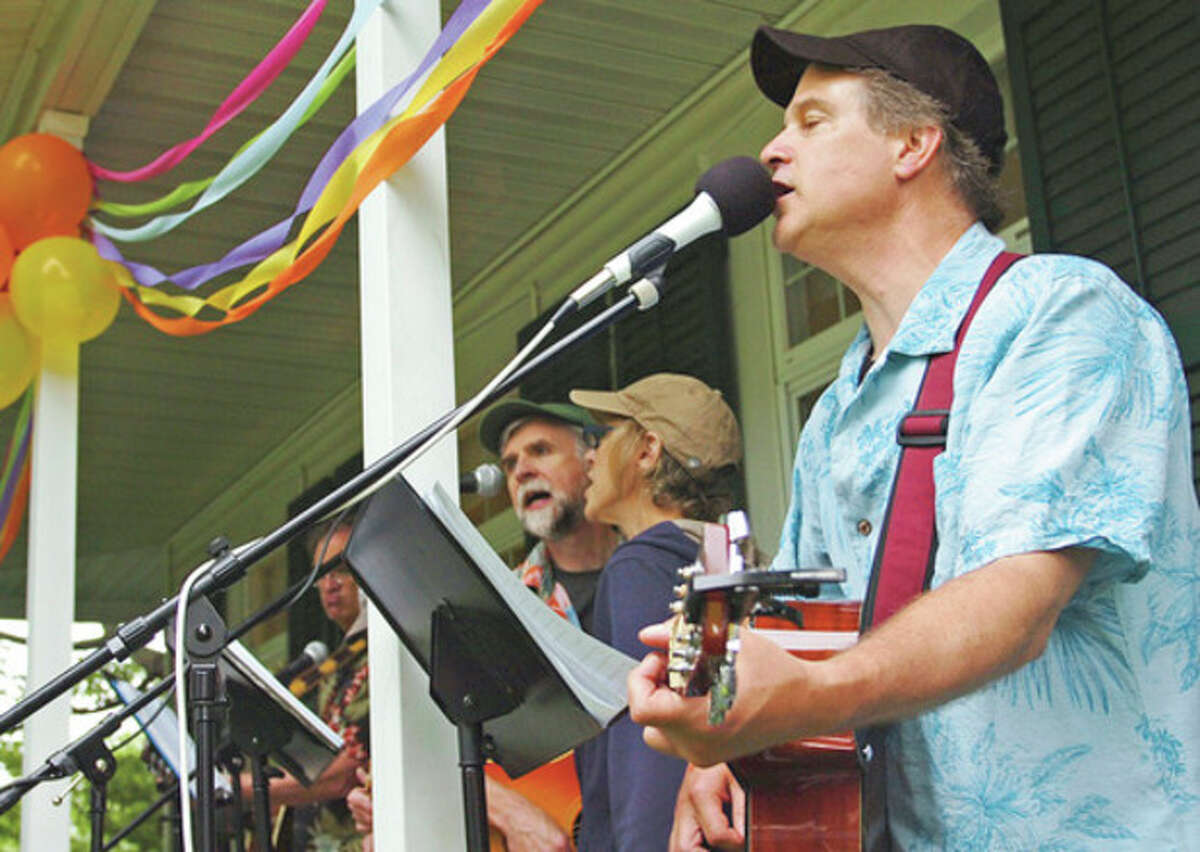 The Soggy Basement Boys perform at the St. Paul's 275th anniversary celebration Saturday. Hour photo / Erik Trautmann
