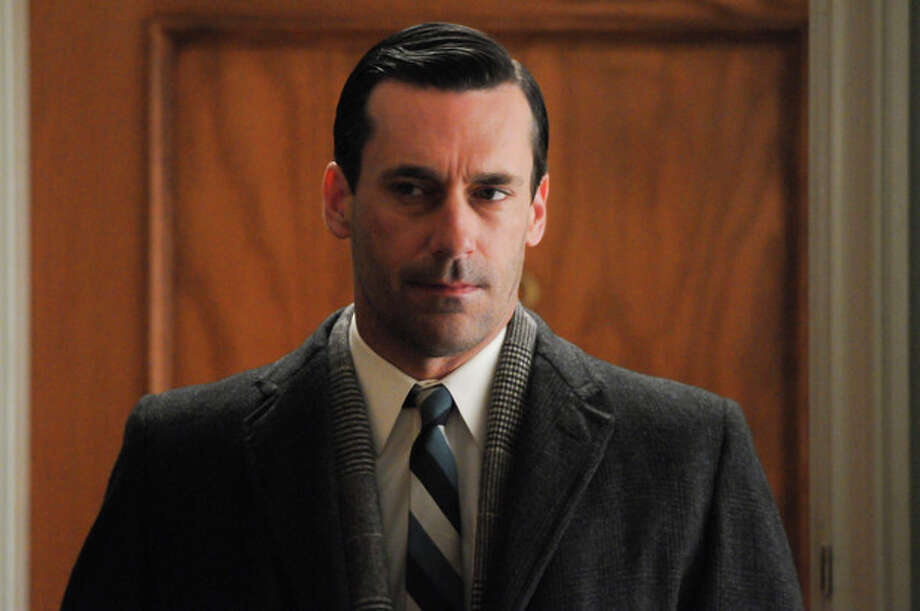"This publicity image released by AMC shows Jon Hamm as Don Draper in a scene from the finale of ""Mad Men."" The popular drama ended its fifth season on Sunday, June 10, 2012. (AP Photo/AMC, Michael Yarish) / Copyright: AMC 2012"