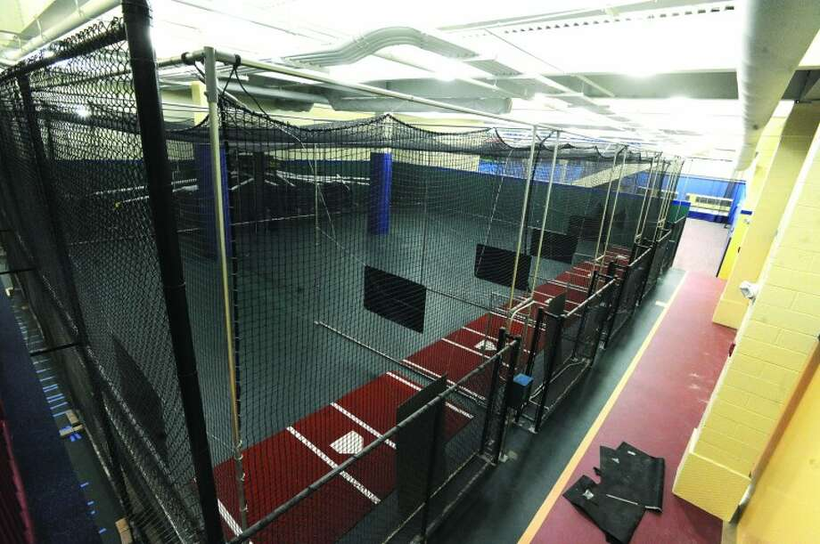 Batting cages at the new Chelsea Piers. hour photo/Matthew Vinci