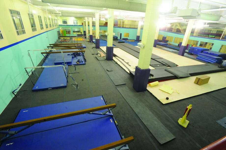 The new gymnastic facility at the new Chelsea Piers. hour photo/Matthew Vinci
