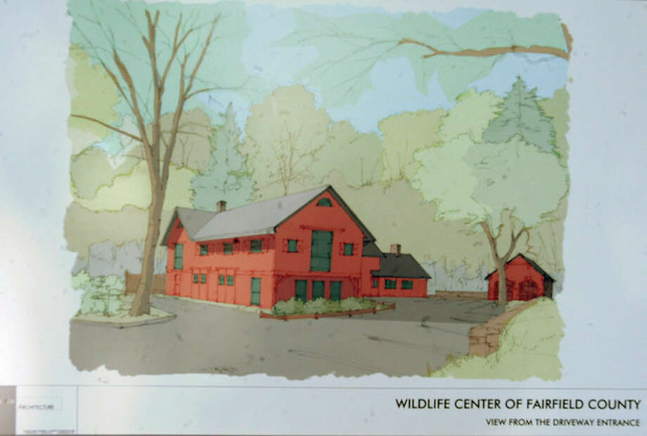 A rendering of the finished Fairfield County Wildlife Rehabilitation & Education Center in Stamford. photo/Matthew Vinci