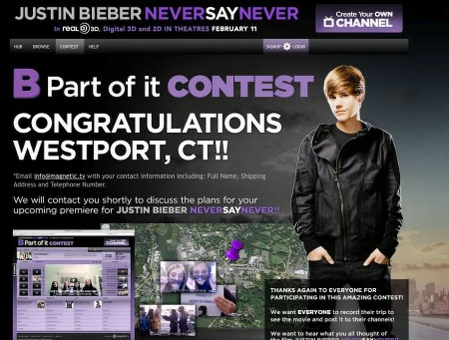 Bieber Fever to invade Westport: Teens win screening of heartthrob's new movie