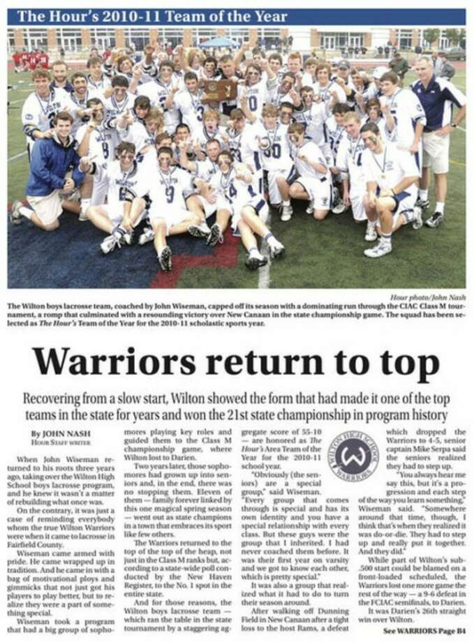The Hour's 2010-11 Area High School Team of the Year -- Warriors return to the top