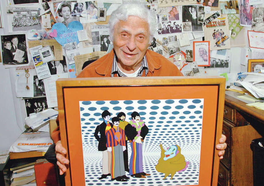 Hour photo / Erik TrautmannAlbert Brodax, 86, created the Yellow Submarine movie for the Beatles. The animated feature is now available on Apple's iTunes and is replaying in select theaters around the country. / (C)2012, The Hour Newspapers, all rights reserved