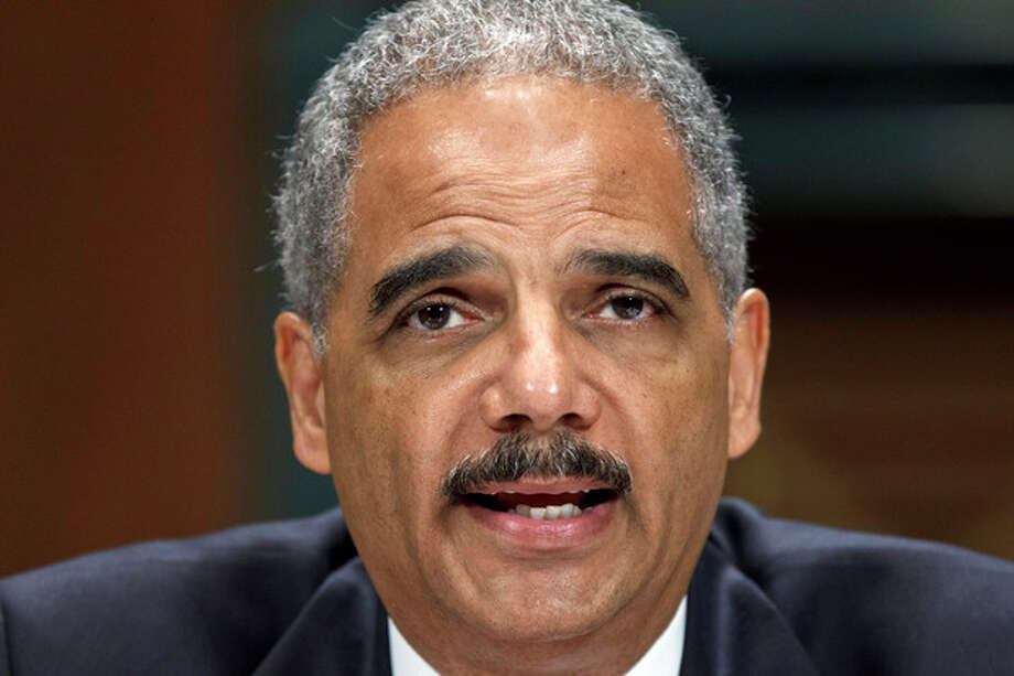 Attorney General Eric Holder testifies on Capitol Hill in Washington, Tuesday, June 12, 2012, before the Senate Judiciary Committee hearing looking into national security leaks. (AP Photo/J. Scott Applewhite) / AP
