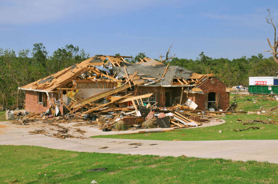 Oklahoma County, OK, May 24, 2010 -- Little remains of a home destroyed by one of the 22 confirmed tornadoes that swept across eastern Oklahoma on May 10. The powerful storms produced the fourth largest single-day outbreak in the state's history. FEMA Photo by Win Henderson