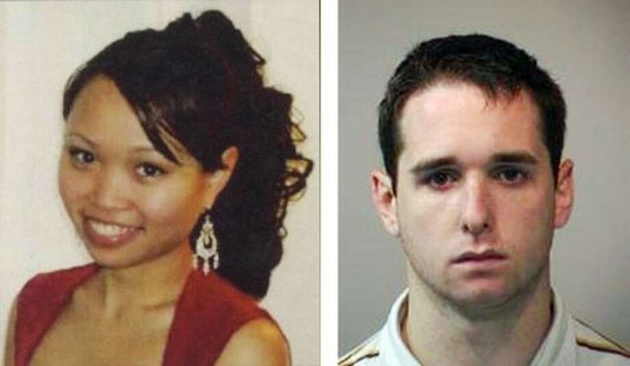 FILE - This combination of file photos released by New Haven officials shows Yale graduate student Annie Le, left, and Yale animal research technician Raymond Clark, III. An attorney for Clark, charged with killing Le in September 2009, said his client plans to plead guilty on Thursday, March 17, 2011. (AP Photo, File)