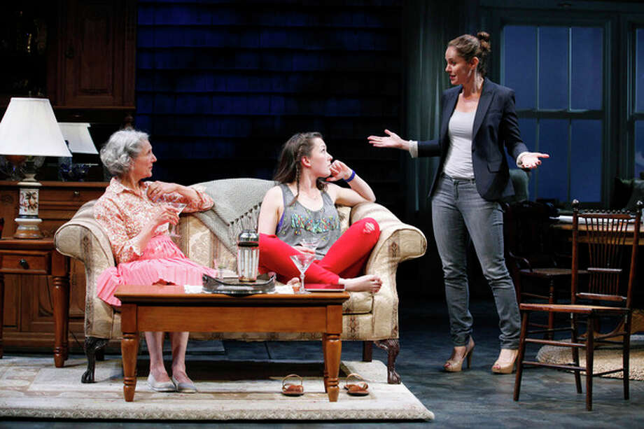 "This undated photo released by The Publicity Office shows, from left, Beth Dixon, Virginia Kull and Amy Brenneman in a scene from Gina Gionfriddo's play ""Rapture, Blister, Burn"" in New York. (AP Photo/The Publicity Office, Carol Rosegg) / The Publicity Office"