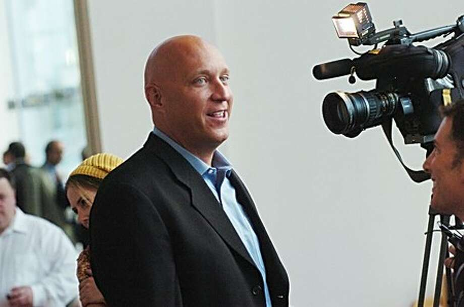 Talk show host Steve Wilkos at the grand opening of the Stamford Media Center on Monday/photo matthew vinci