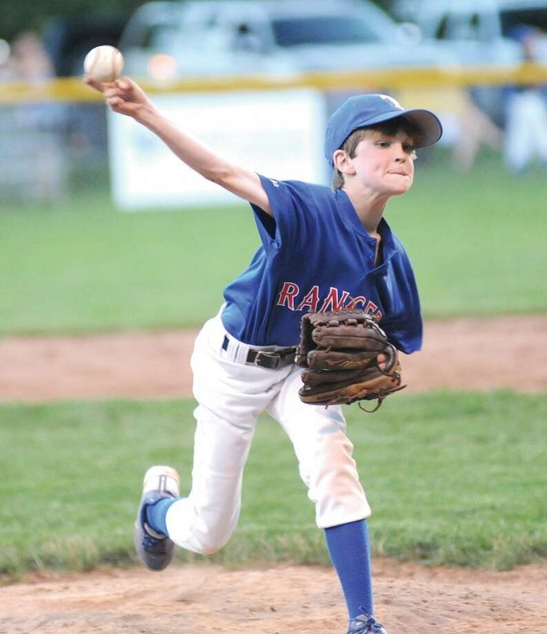 Rangers pitcher Brendan Connor fired a two-hitter to beat the Twins in Friday's Wilton Little League championship game.