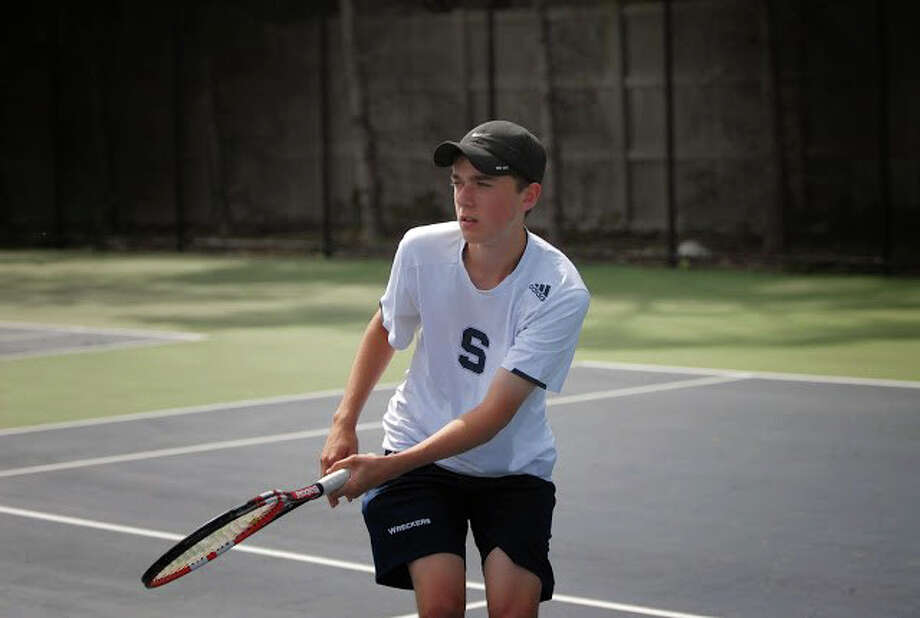William Andrews, the valedictorian of Staples High School, stars on and off the tennis court. Photo: Contributed / Contributed Photo / Westport News