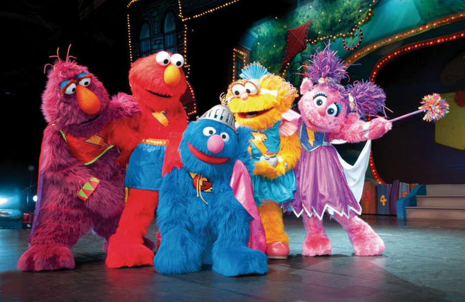 "Join Elmo, Zoe, Abby Cadabby, Telly Monster and Zoe's pet rock Rocco for Sesame Street Live ""Elmo's Super Heroes"" at the Palace Theatre in Stamford on Wednesday, April 17 and Thursday, April 18. Tickets for all four performances are on sale now at www.SCAlive.org."