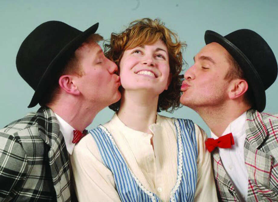 "Stamford resident Jamie Caporizo (center) joins Stephen Faulk and Nathan Brian in Victor Herbert'smusical comedy ""The Red Mill"" on April 6 and 13 atthe Norwalk Concert Hall. Caporizo will sing the soprano role of Tina, daughter of the local innkeeper."