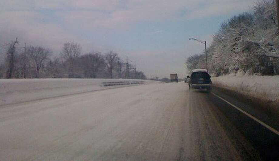 The early morning trip on I-95 was not a smooth one Thursday morning. Hour photo / JERROD FERRARI