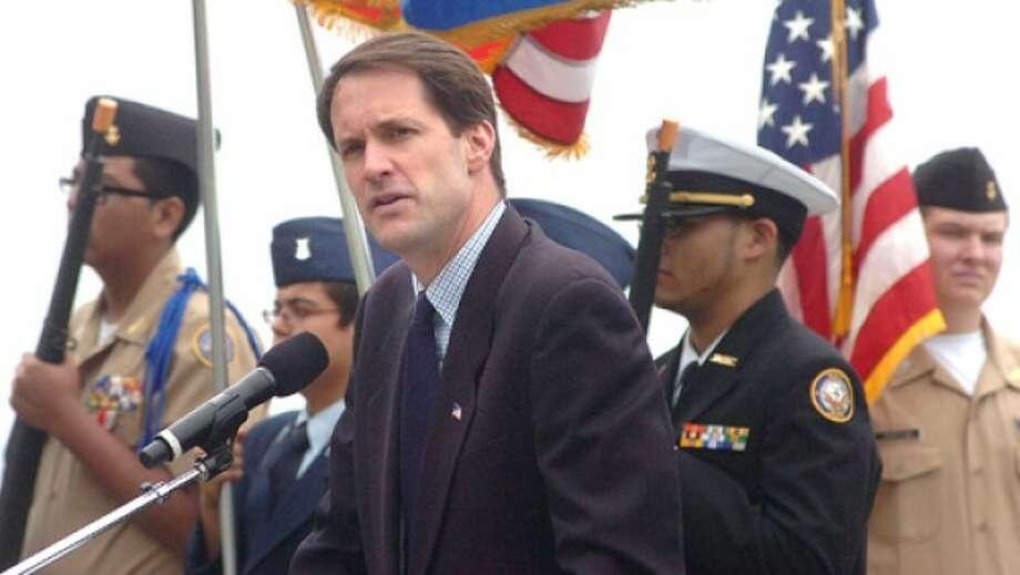 Photo/Alex von Kleydorff. Congressman Jim Himes speaks at The Shea Magrath Memorial