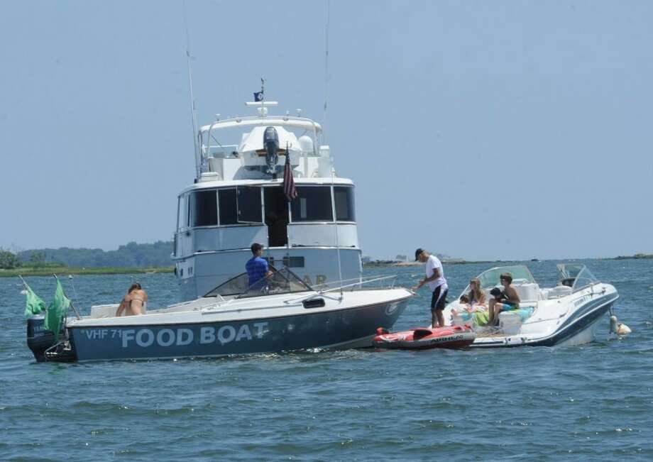 Bulls Head Market's Food Boat brings food service to the boating community in the area. hour photo/Matthew Vinci