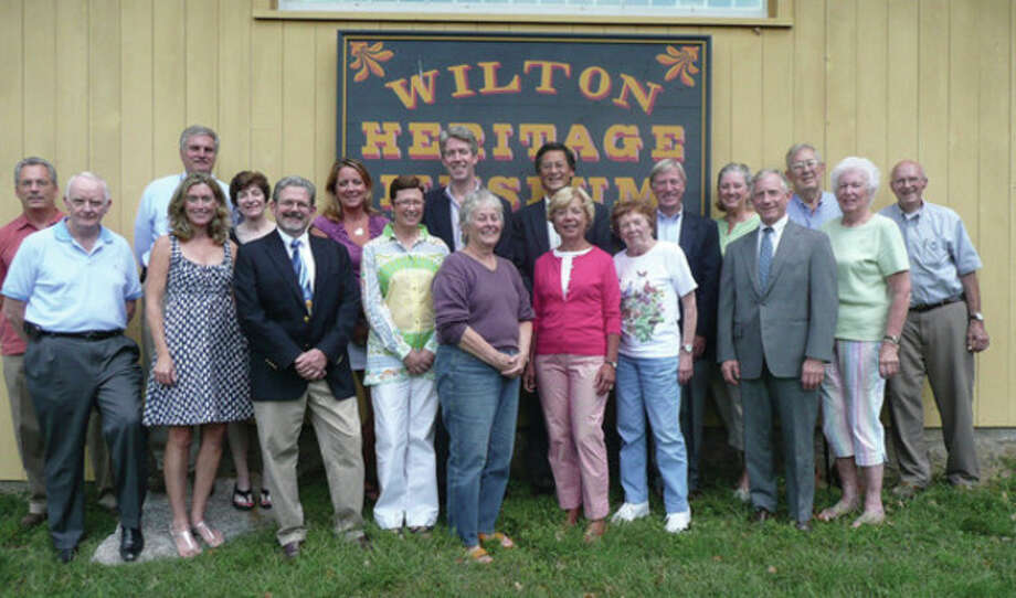 Members of the Wilton Historical Society's Board of Directors, trustees and emeritus trustees. Contributed photo.