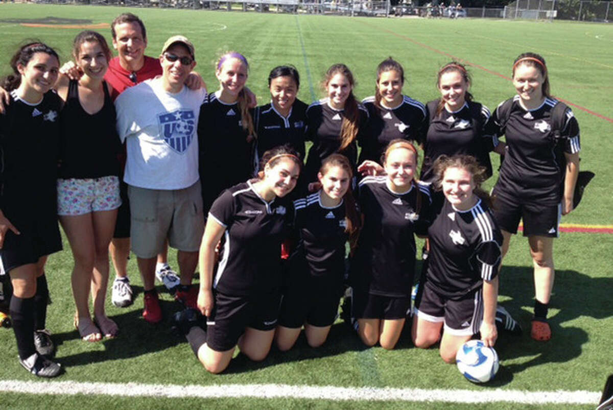 Contributed photo The Stamford U19 Girls squad concluded its spring campaign with a 6-1-1 record after a season-end 6-2 victory against Fairfield.