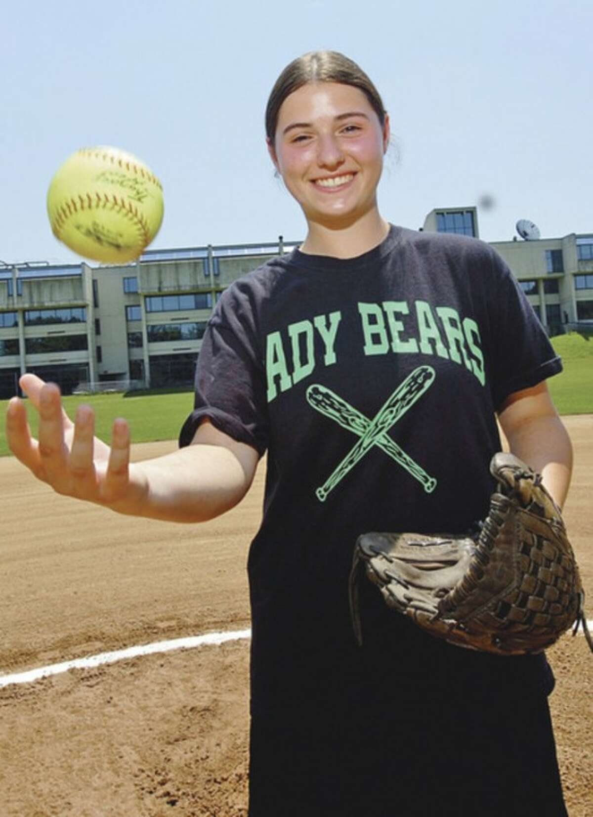 Hour photo/Erik Trautmann Norwalk senior Patti Sciglimpaglia, the top pitcher and one of the top hitters for the Bears, has been selected as the MVP on The Hour's All-Area softball team.
