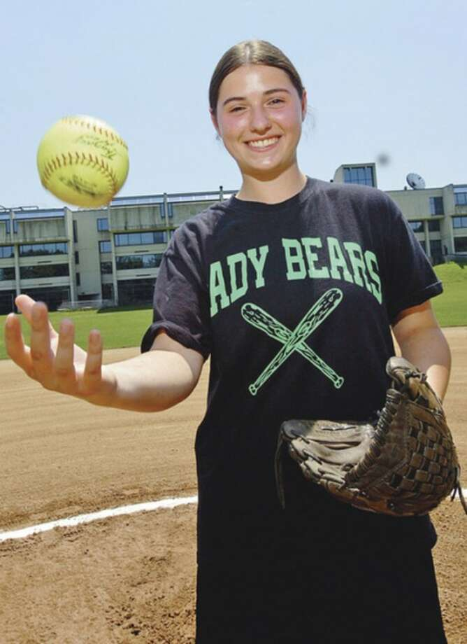 Hour photo/Erik TrautmannNorwalk senior Patti Sciglimpaglia, the top pitcher and one of the top hitters for the Bears, has been selected as the MVP on The Hour's All-Area softball team.