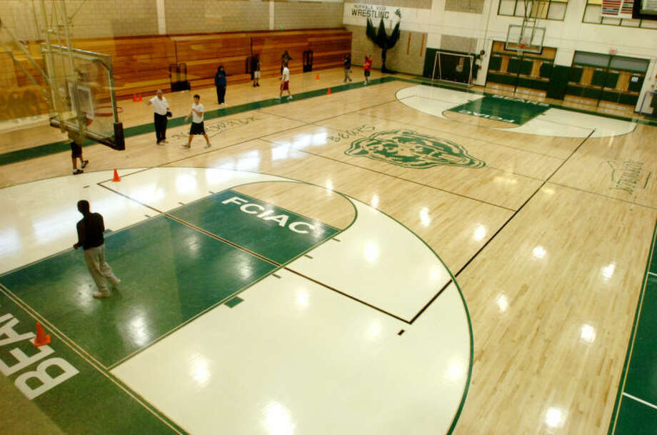 Norwalk High School's gym.