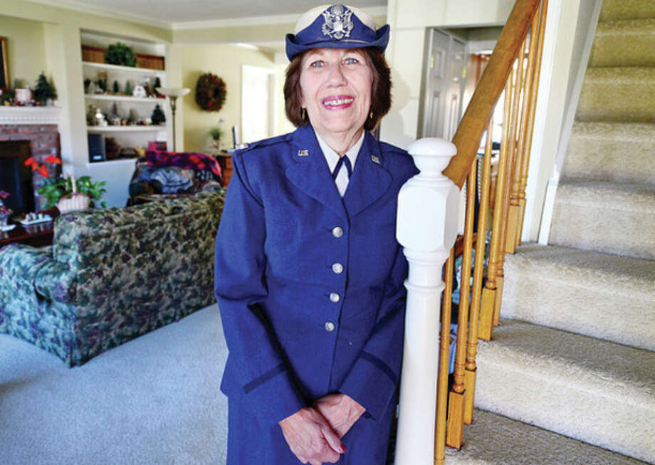 Hour photo / Erik TrautmannU.S. Air Force veteran Sharon Singewald will serve as first female grand marshal in Norwalk's annual Memorial Day Parade set for May 27. / (C)2013, The Hour Newspapers, all rights reserved