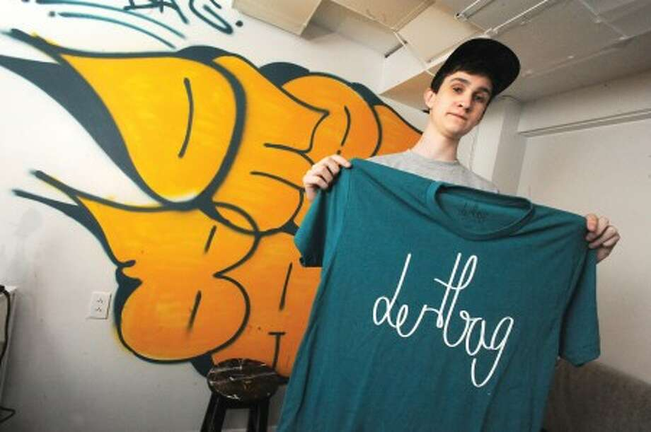 16 year old Philip Post of Norwalk will open a skatebaord influenced store in South Norwalk called Dertbag. hour photo/matthew vinci