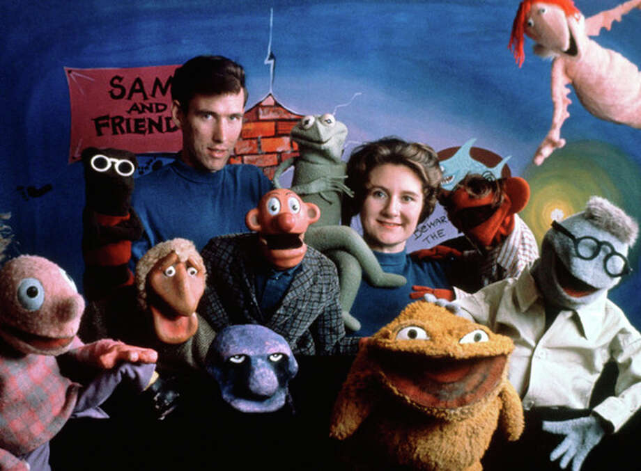 FILE - This 1960 handout photo provided by The Jim Henson Company shows Jane Henson, right, with Jim Henson and the cast of Sam and Friends, in Washington. Jane Henson died in her Connecticut home on April 2, 2013 after a long battle with cancer. (AP Photo/The Jim Henson Company, Del Ankers) / The Jim Henson Company
